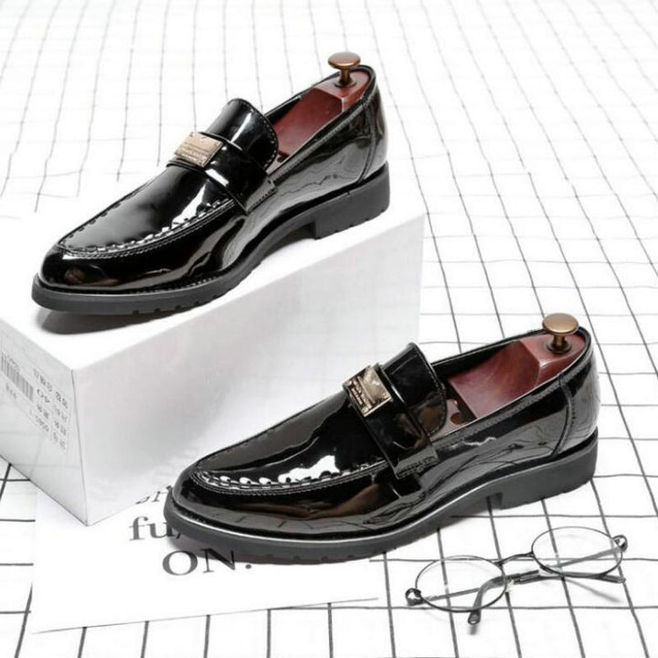 Men's Leather Loafers With Pointed Toe | Plus Size