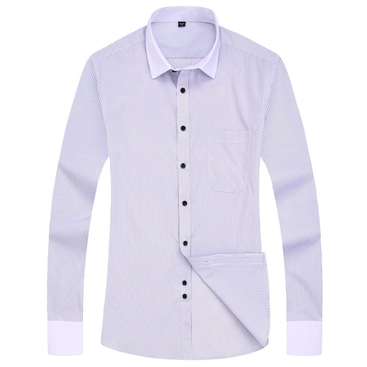 Men's Casual Striped Long Sleeved Shirt | Plus Size