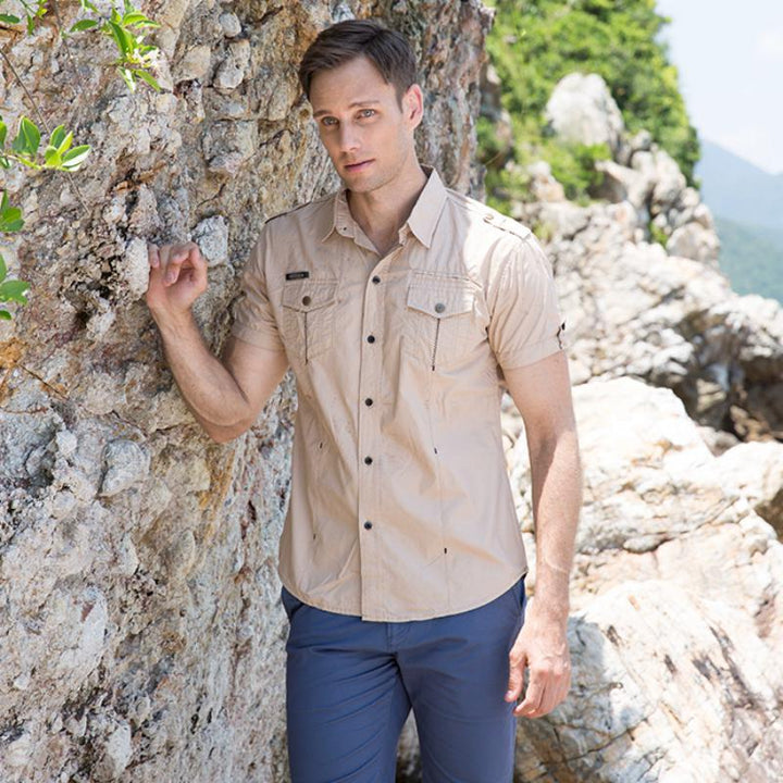 Men's Summer Casual Cotton Short Sleeved Shirt | Plus Size