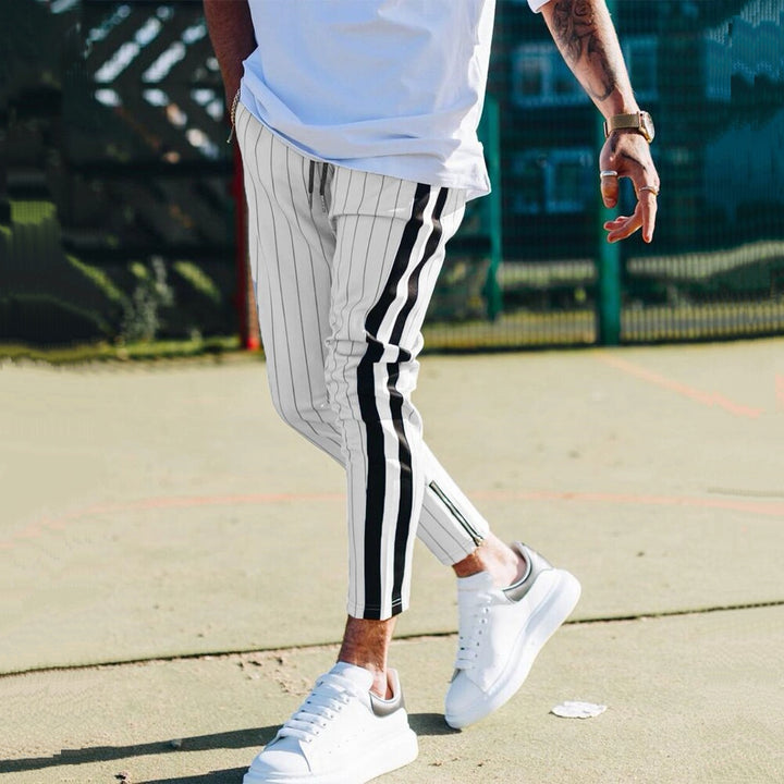 Men's Casual Striped Joggers