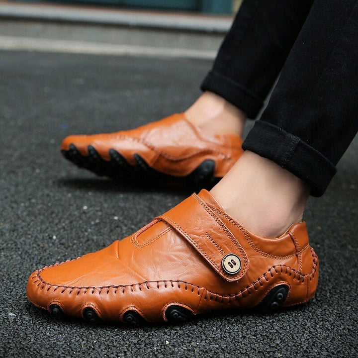 Men's Casual Genuine Leather Breathable Slip-Ons