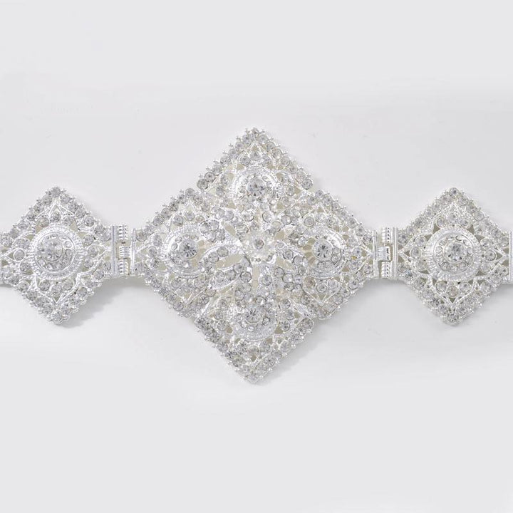 Women's Adjustment Belt With Rhinestones