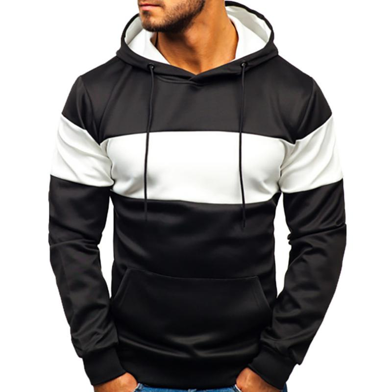 Men's Casual Long Sleeved Hooded Sweatshirt