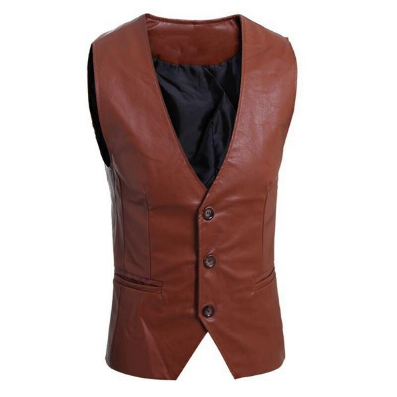 Men's Autumn Casual Leather Vest