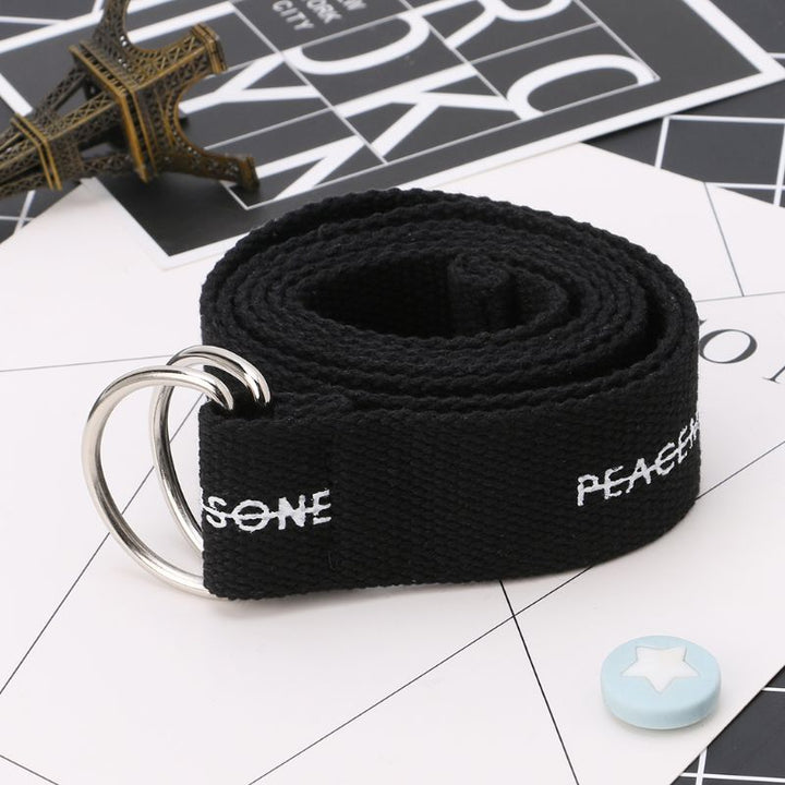 Men's Casual Canvas Belt With Print