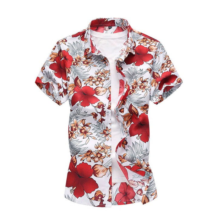 Men's Summer Casual Short Sleeved Shirt With Print