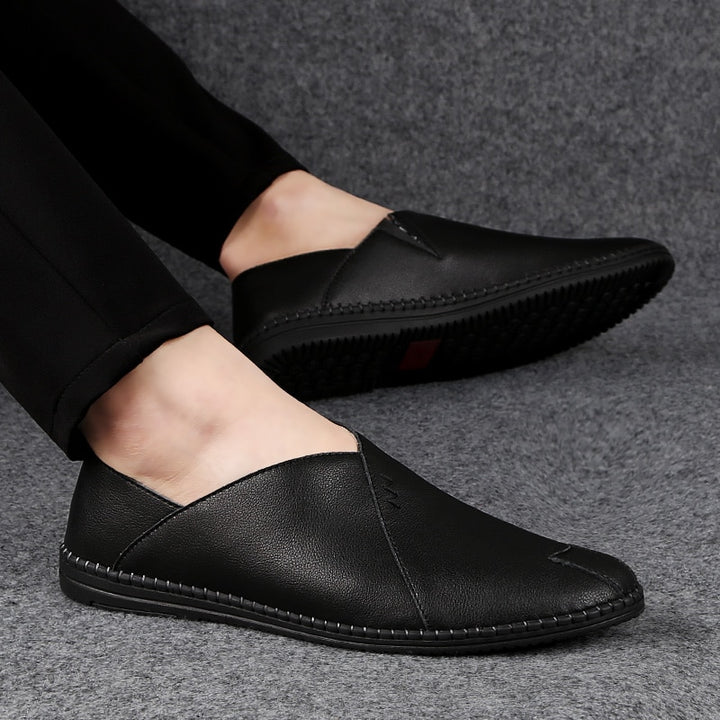 Men's Summer/Spring Casual Breathable Leather Loafers