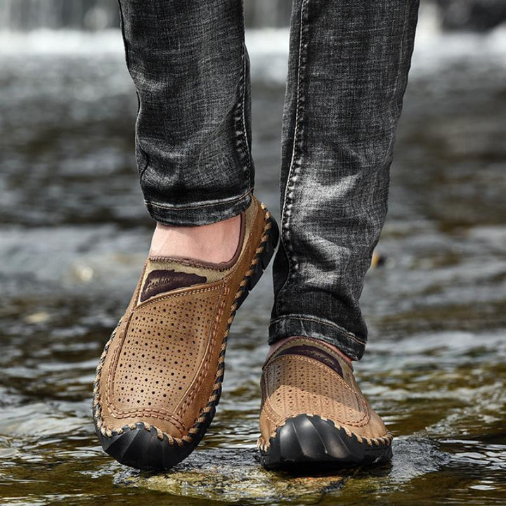 Men's Summer Casual Genuine Leather Slip-Ons