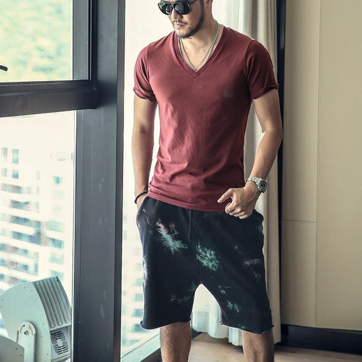 Men's Cotton Shorts With Elastic Waist