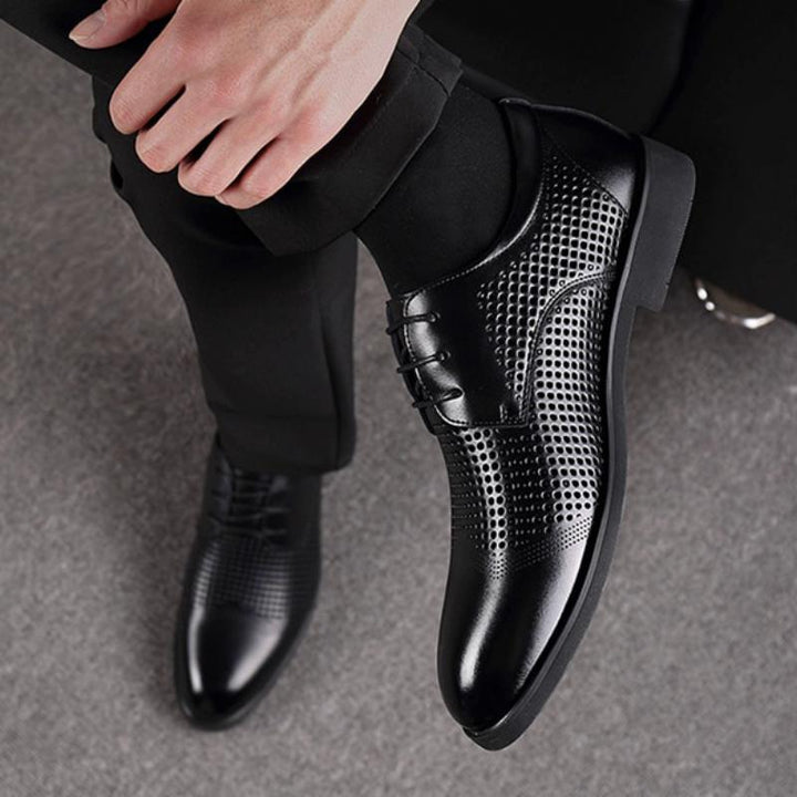Men's Casual Breathable Genuine Leather Oxfords