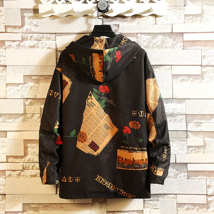 Men's Spring/Autumn Casual Long-Sleeved Jacket With Print