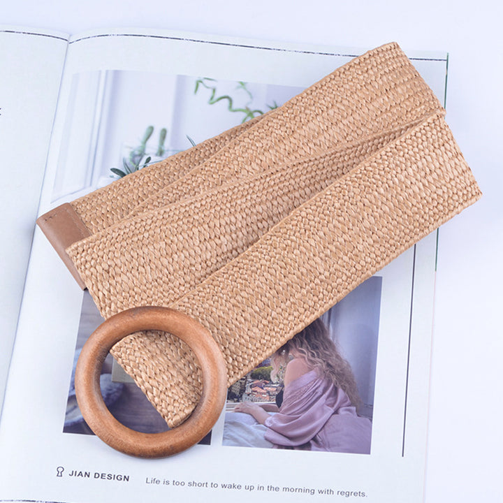 Women's Summer Casual Elastic Straw Belt