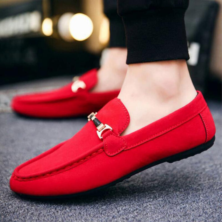 Men's Casual Suede Loafers | Plus Size