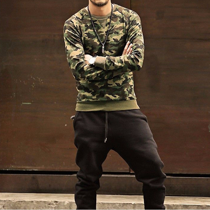 Cotton Camouflage Sweatshirt - Zorket