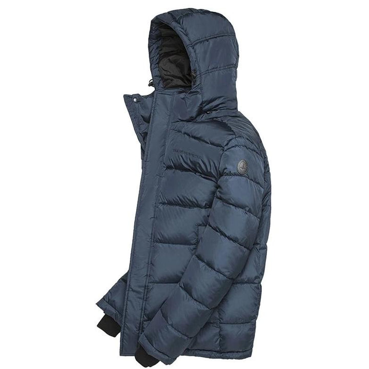 Men's Winter Casual Padded Hooded Coat With Zippers