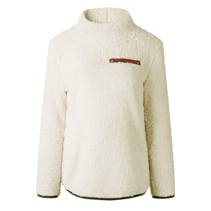 Women's Winter Casual Fleece Knitted Turtleneck Pullover