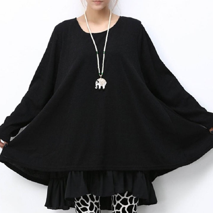 Women's Spring/Autumn Casual Long-Sleeved Ruffled Blouse