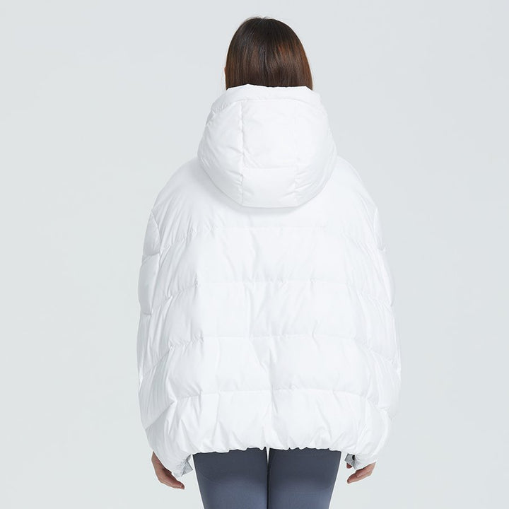 Women's Winter Bat-Sleeved Polyester Hooded Parka