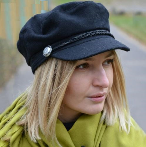 Women's Autumn/Winter Warm Casual Cap With Rope