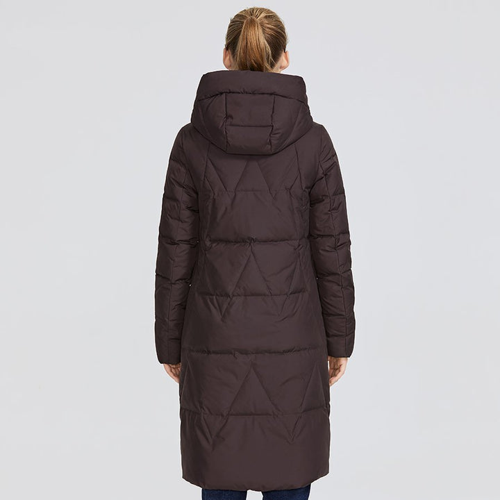 Women's Winter Medium-Length Hooded Warm Parka