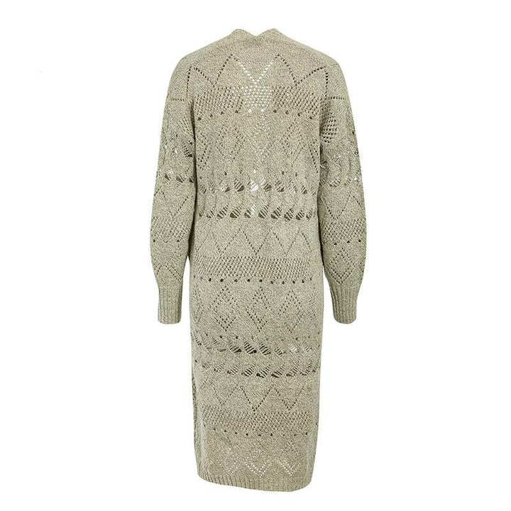 Women's Spring/Autumn Long-Sleeved Knitted Long Cardigan