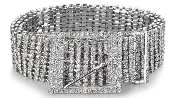 Women's Casual Belt With Rhinestones