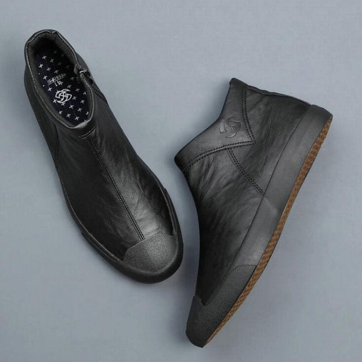 Men's Winter Casual Leather Shoes