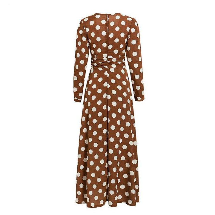 Women's Spring Casual Long-Sleeved V-Neck Maxi Dress