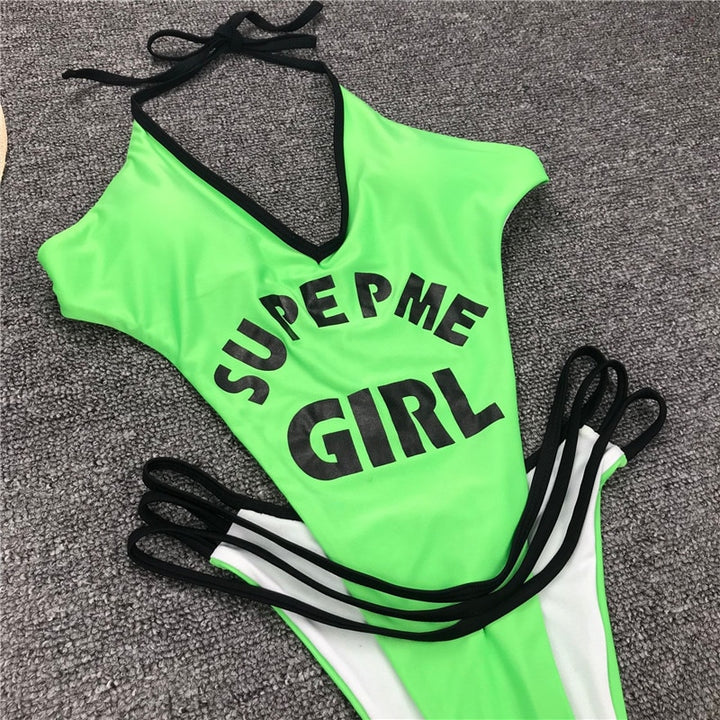 "Women's Summer One-Piece Push-Up ""Supreme Girl"" Swimsuit"