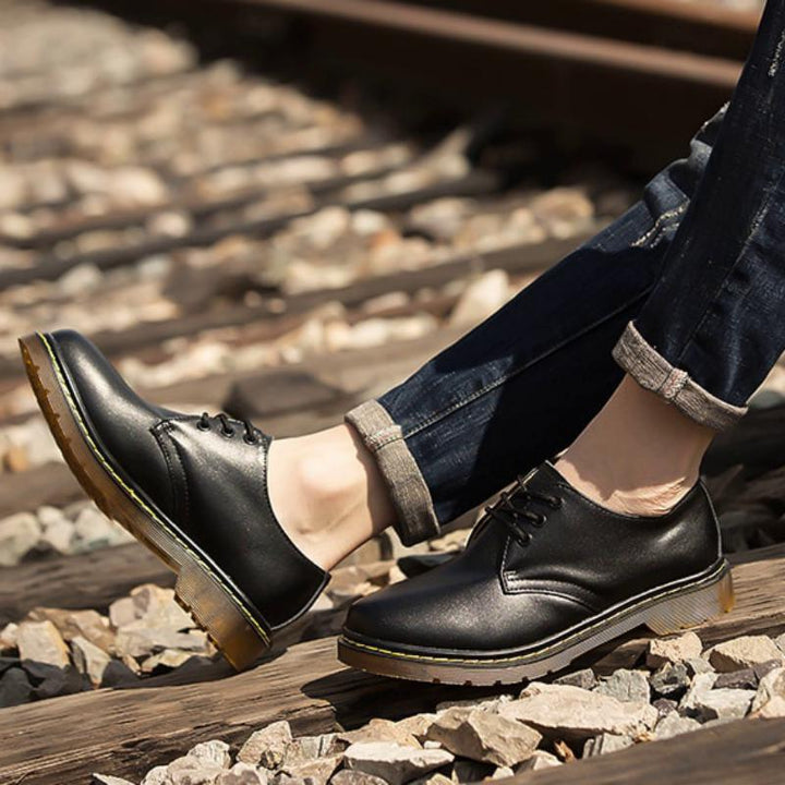 Men's Spring Casual Genuine Leather Shoes | Plus Size