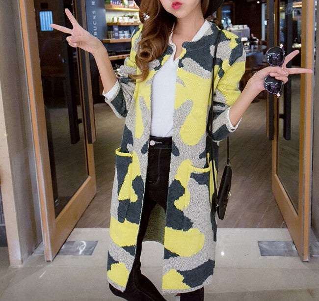 Cotton Coat With Camouflage Pattern - Zorket