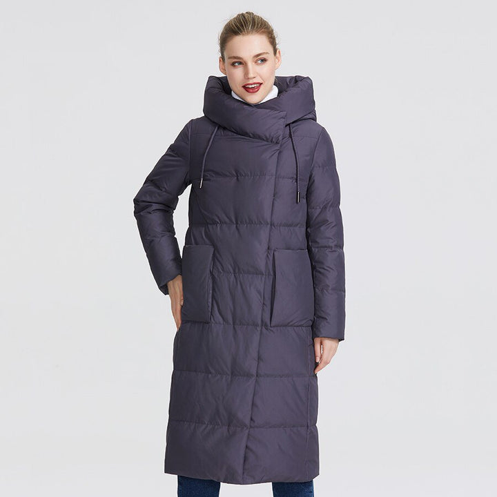 Women's Winter Windproof Hooded Thick Polyester Parka