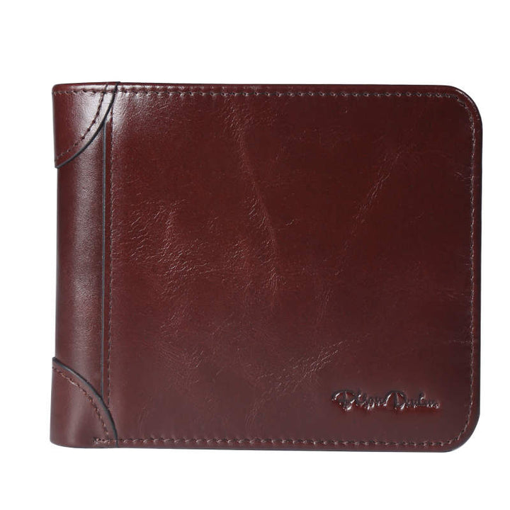 Men's Genuine Leather Twofold Wallet