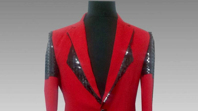 Men's Casual Blazer With Sequins