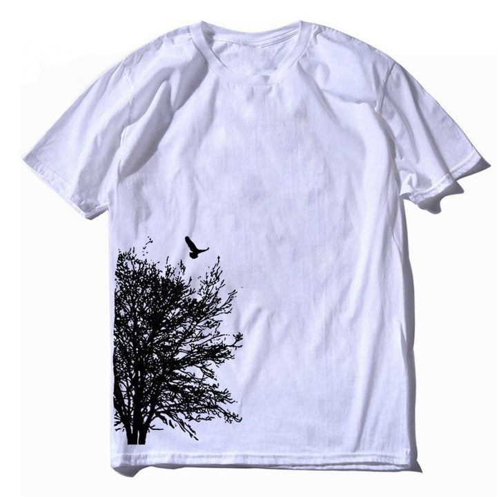Men's Summer Casual Cotton O-Neck T-Shirt With Print