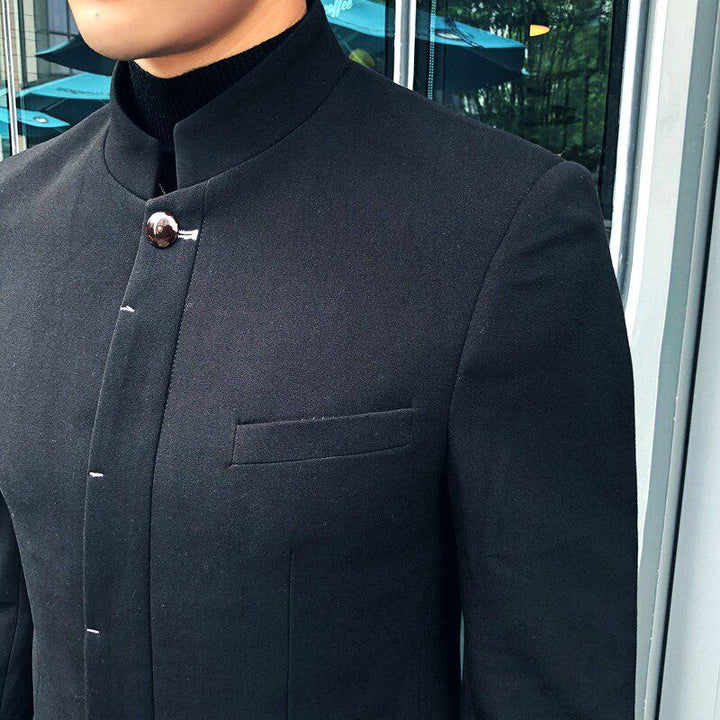 Men's Slim Fit Blazer With Chinese Collar