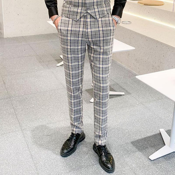 Men's Wedding Plaid Suit | Blazer & Pants & Vest