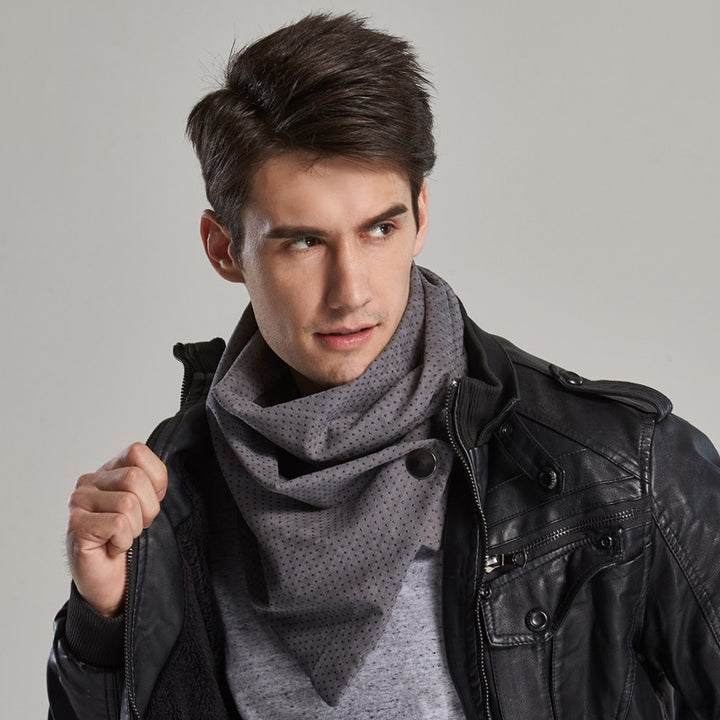 Men's Winter Scarf With Snaps