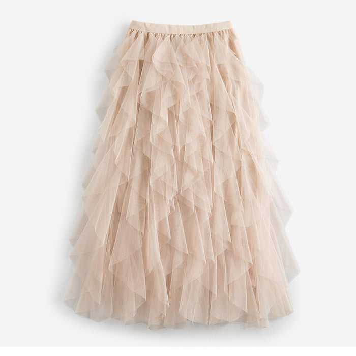 Women's Spring/Summer Casual Elastic High-Waist Skirt