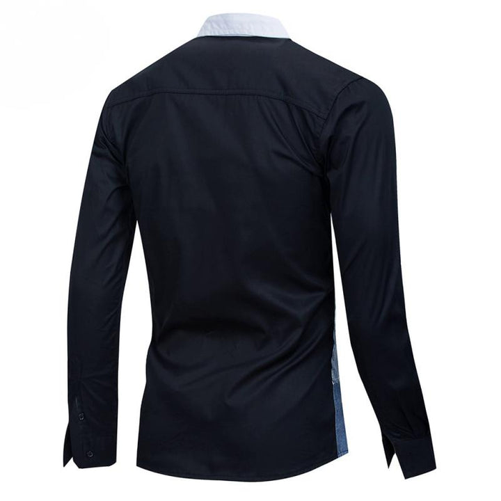 Men's Spring Casual Cotton Long Sleeved Shirt