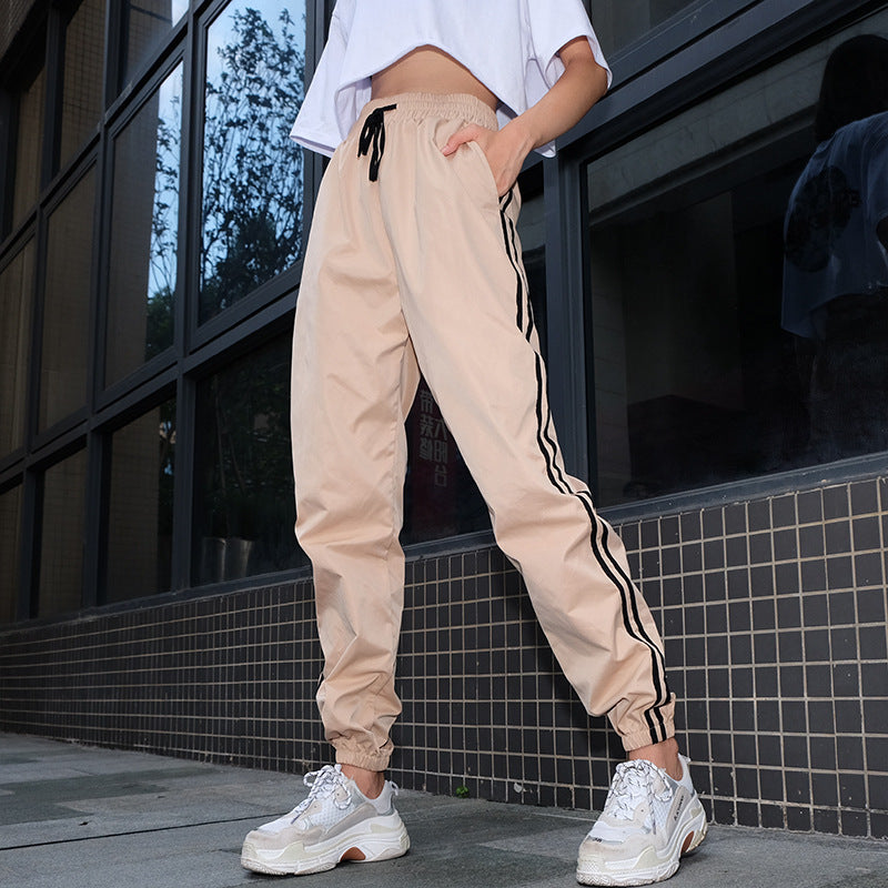 Women's Spring/Autumn Casual Striped Joggers