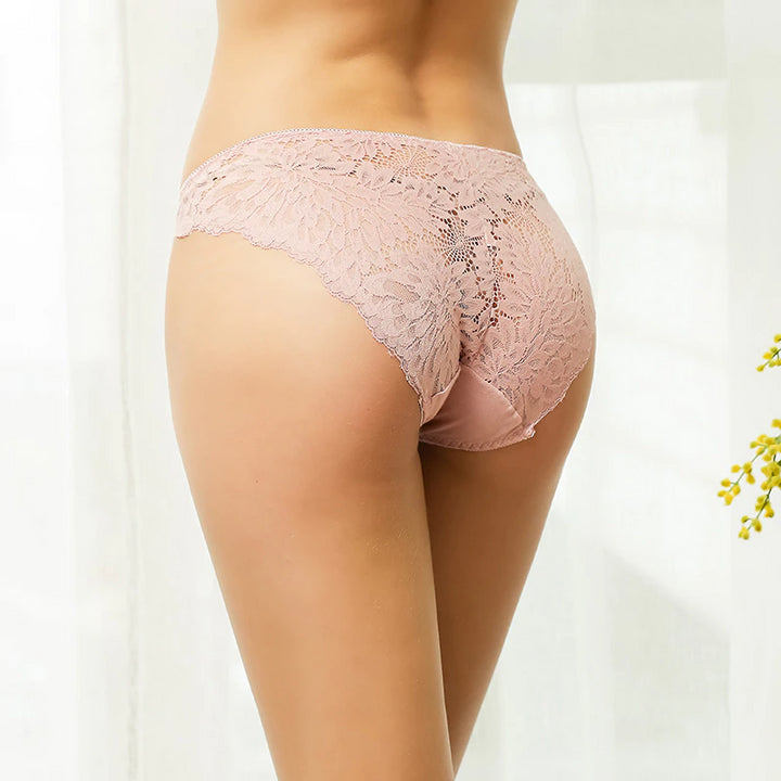Women's 3 Pcs Transparent Lace Panties