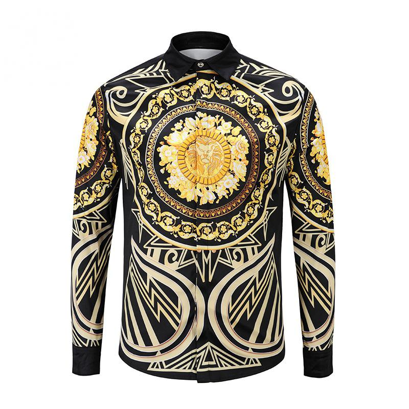 Men's Casual Long Sleeved Shirt With Print