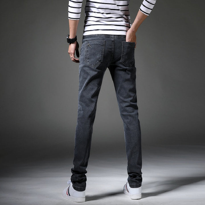 Men's Spring/Autumn Casual Mid-Waist Skinny Jeans