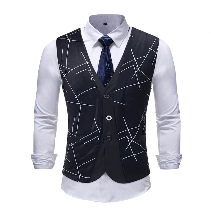 Men's Wedding Vest With Print