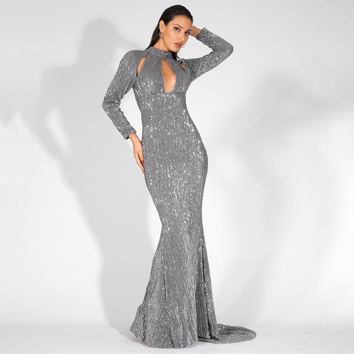 Women's Autumn Long Sequin Dress