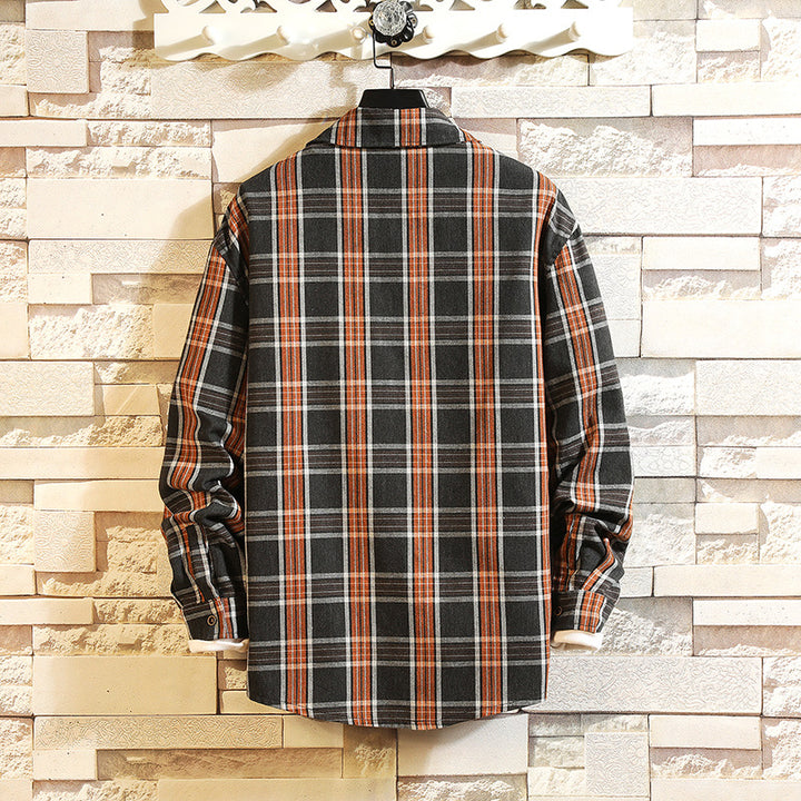 Men's Spring/Autumn Casual Long-Sleeved Cotton Shirt