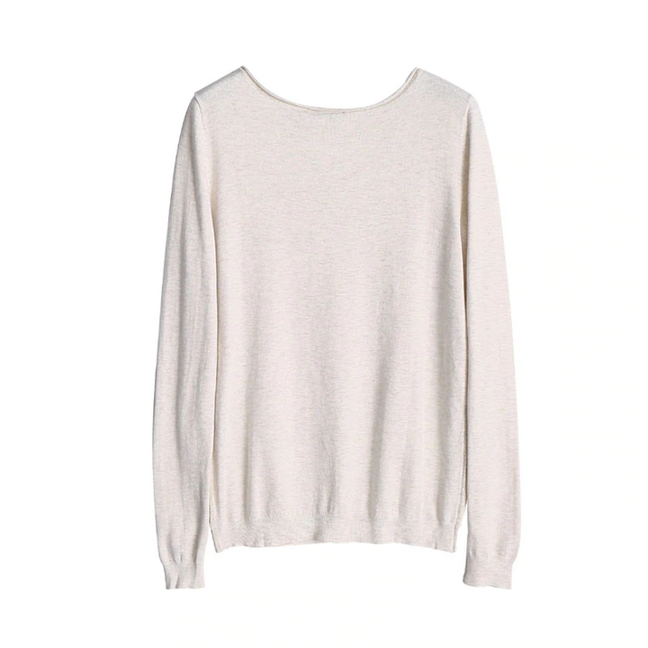 Women's Casual Viscose Long-Sleeved O-Neck Pullover