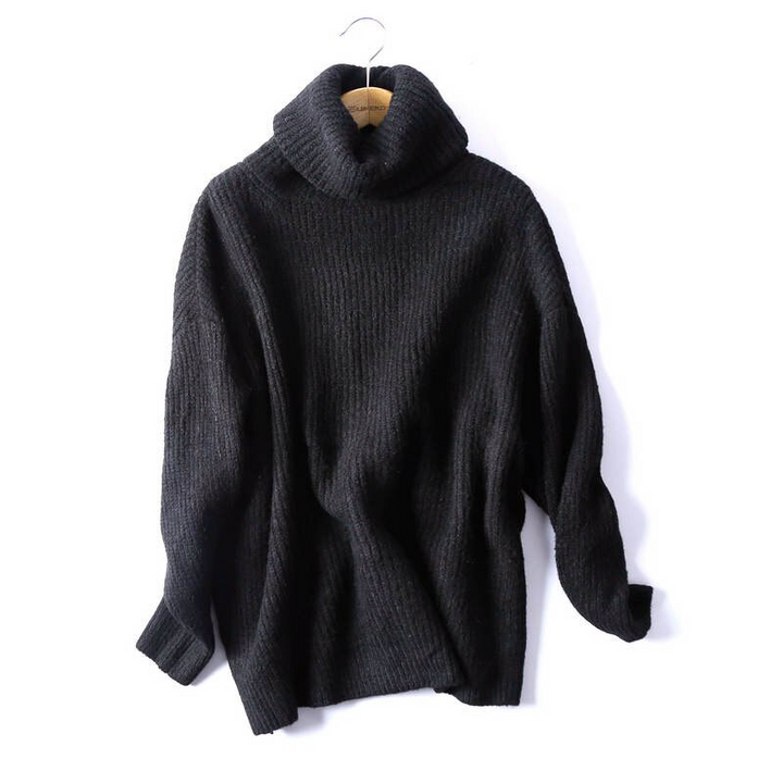 Women's Casual Long-Sleeved Knitted High Neck Sweater