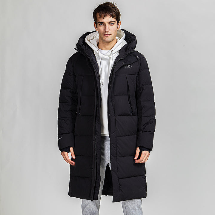 Men's Winter Casual Warm Hooded Long Parka With Pockets